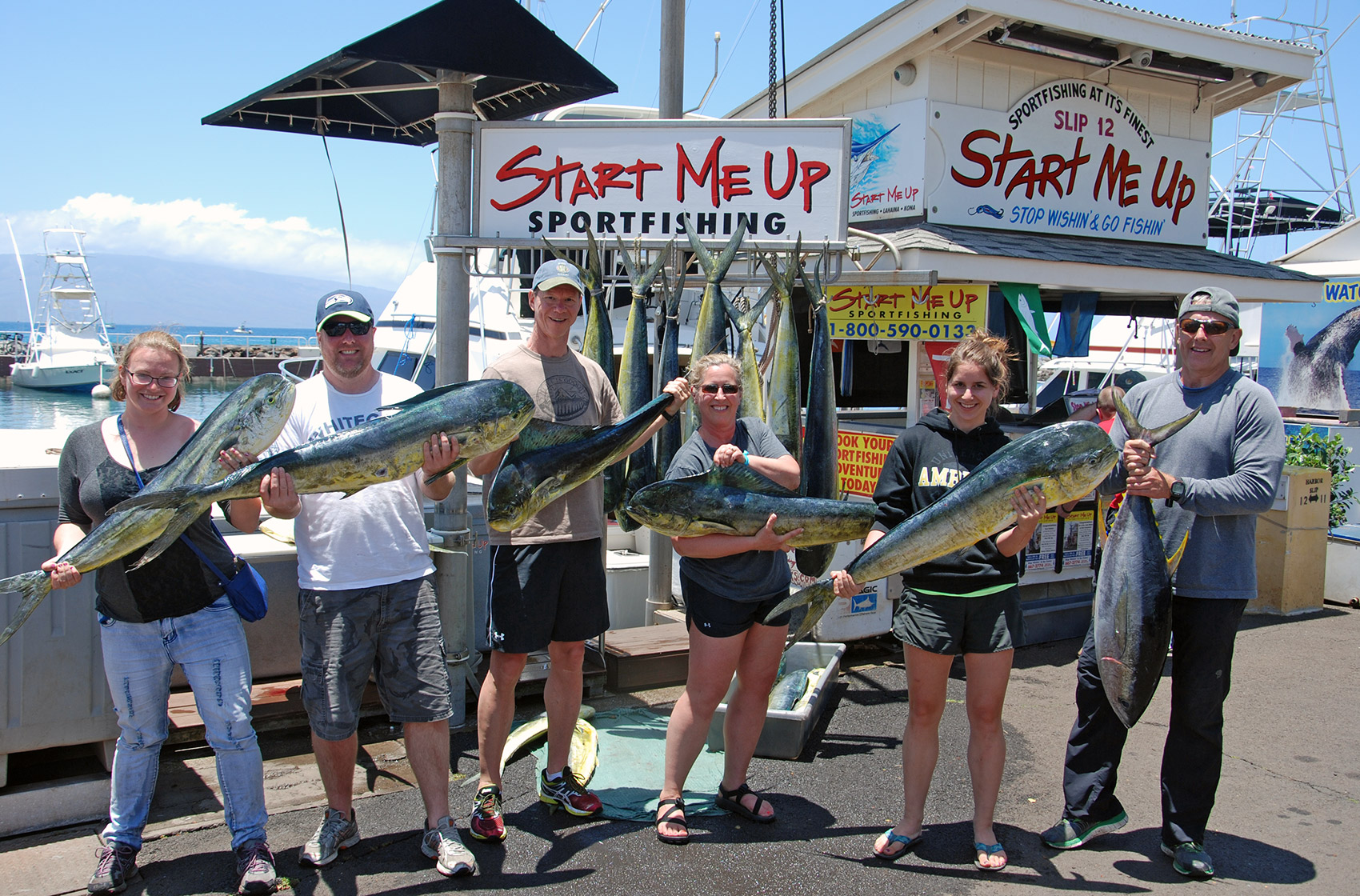 Maui Sport Fishing Mahi Group Catch